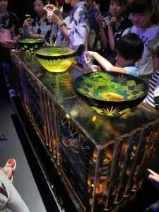 伝統の江戸切子ガラスともコラボレーションしています!