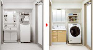 洗面台の交換例