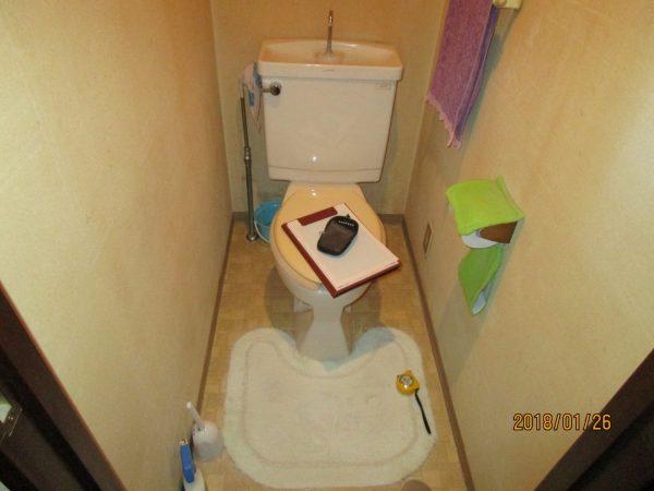 トイレ・給湯器の工事をしました。