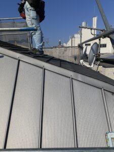 板橋区 戸建の現場から 屋根板金葺き替え