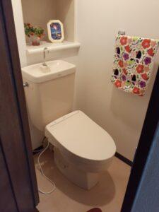 板橋区 マンション工事 トイレ床張替え
