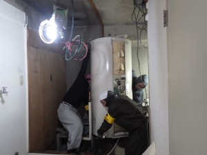温水器撤去