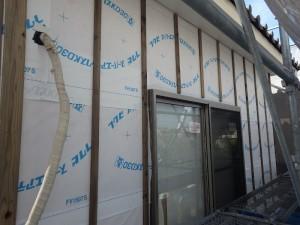 外壁工事 サイディング下地