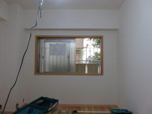 内窓の枠が完成しました。ここまでで約5分!