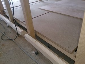 防音効果もある置き床工法です。