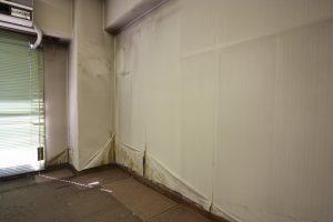 北側の壁面はカビが発生していました。