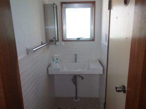 3階洗面室のタイル