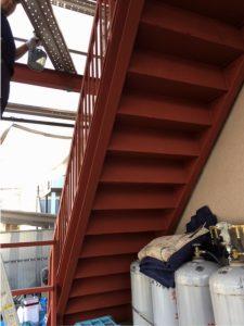 階段リフォーム(錆止め塗装⓶)
