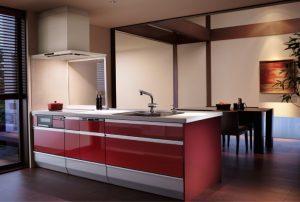 メーカー設定の対面キッチン