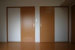 子供部屋リフォーム後の二つの入り口を閉めた状態