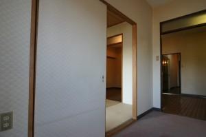 リビングリフォーム施工前の和室との境壁
