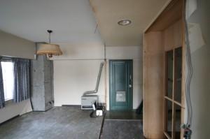 リフォーム施工中の子供部屋