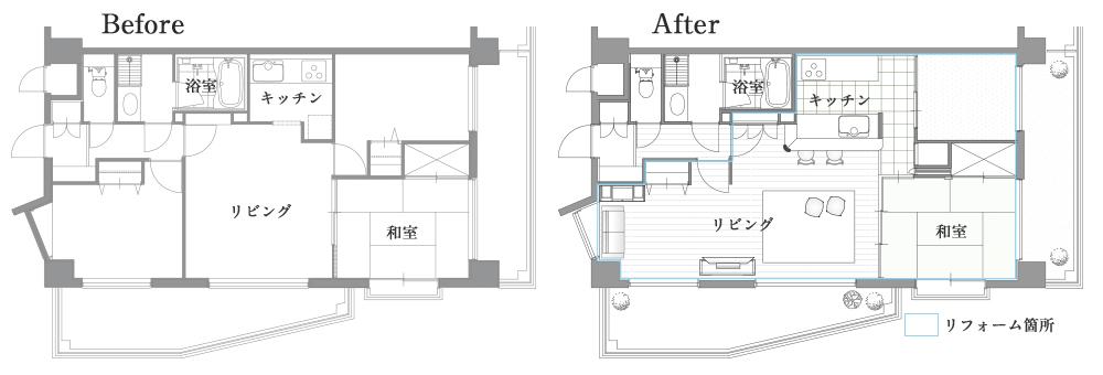 板橋区のマンションリフォーム間取り図面