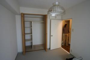 リフォーム前の寝室のクローゼット