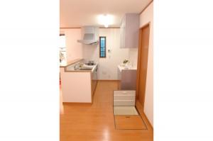 リフォーム後キッチンと床下収納