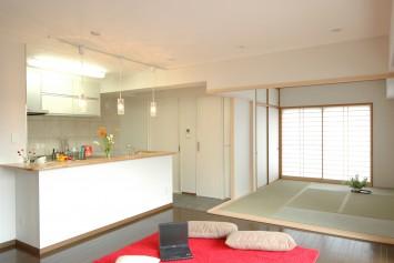 キッチン・リビング・和室のリフォーム後
