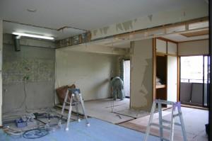 リフォーム解体中の和室