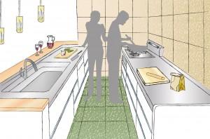 ご夫婦でキッチンに立つイメージ