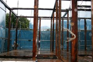 リフォーム解体後の柱だけの状態