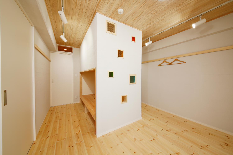 シラス壁の子供部屋