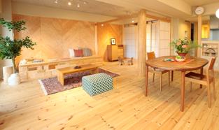 板橋区K様邸の無垢素材・自然素材リフォーム事例写真
