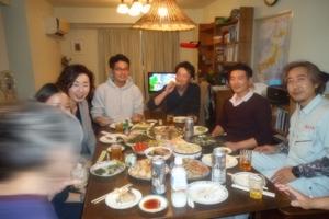 板橋区Y様邸完成慰労食事会