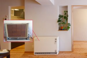 リフォーム後の蓄熱式暖房機