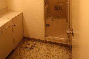 キッチンリフォーム前の浴室の段差