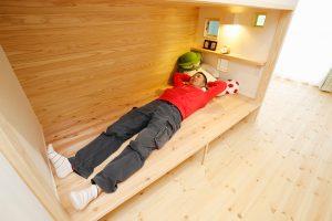 子供部屋リフォーム後 大人が寝転んでも大丈夫な大きさ