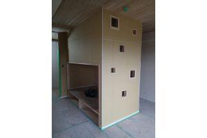 子供部屋リフォーム中の二段ベッド製作中05