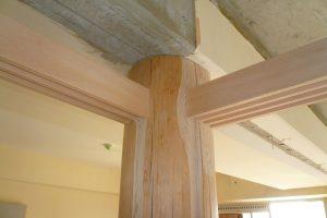 丸太の天井設置