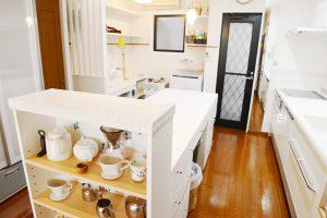 家事室のあるキッチンリフォーム事例写真