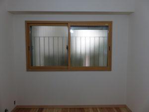 内窓工事完了。約15分で終了しました。