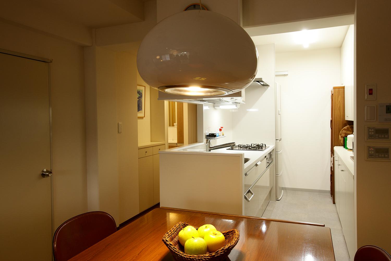 開放的になったキッチン