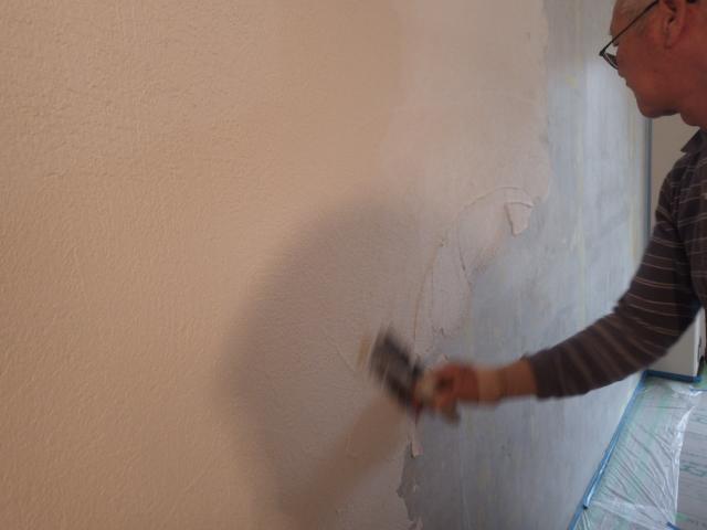 左官職人によるシラス塗り壁