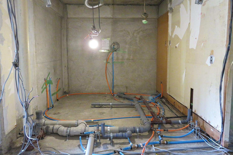 水回り配管敷設後