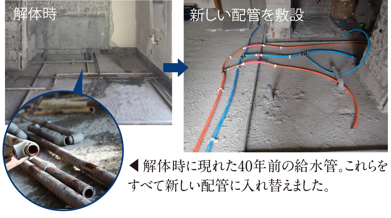 解体時の給水管