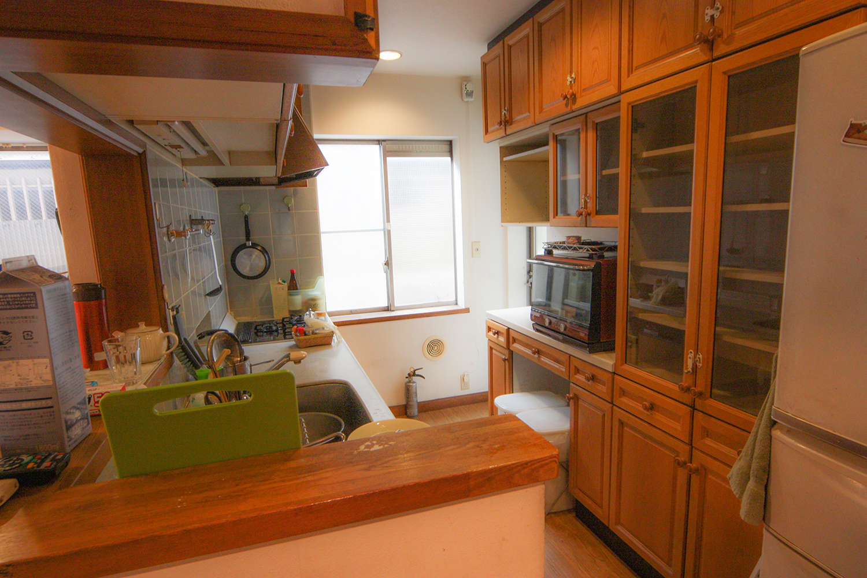 リフォーム前のキッチン作業台