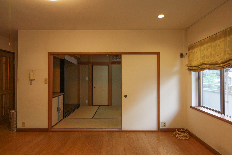 工事前の和室正面
