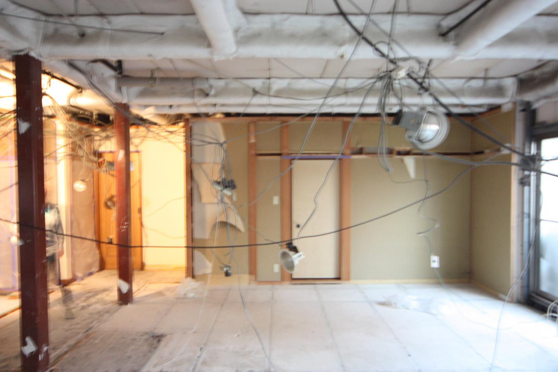 リビング解体直後 和室方向