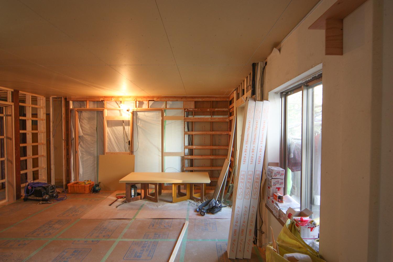 大工工事中 和室方向