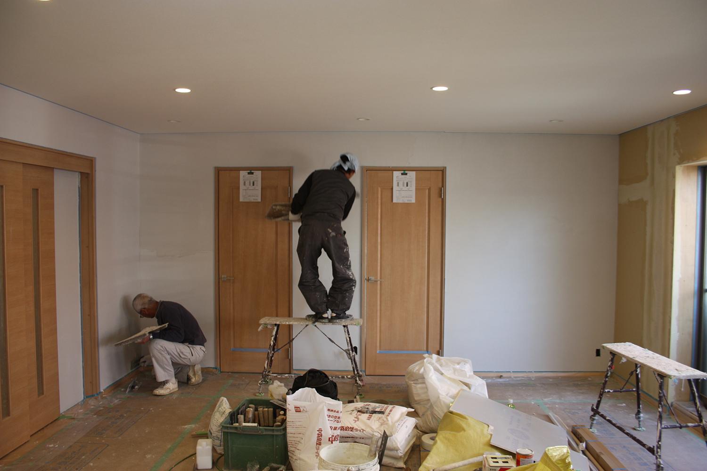 内装 シラス壁塗り仕上げ