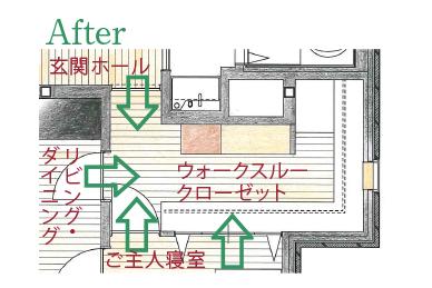 クローゼット図面 after
