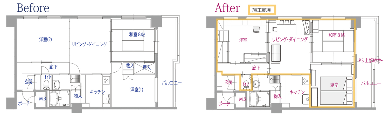 before-after図面