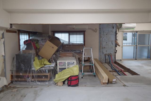解体後和室と寝室
