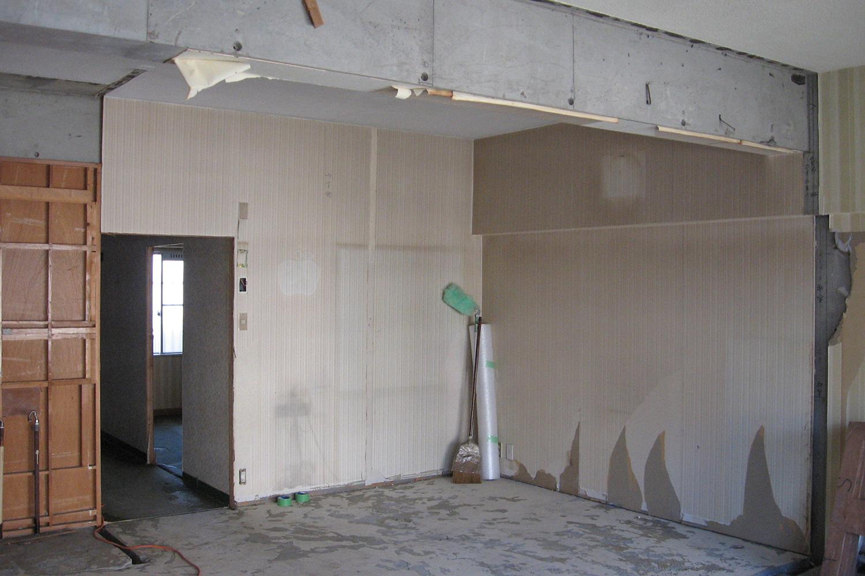 書斎設置場所のスケルトン状態
