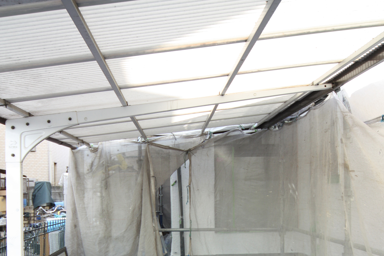 ベランダリフォーム前屋根部分