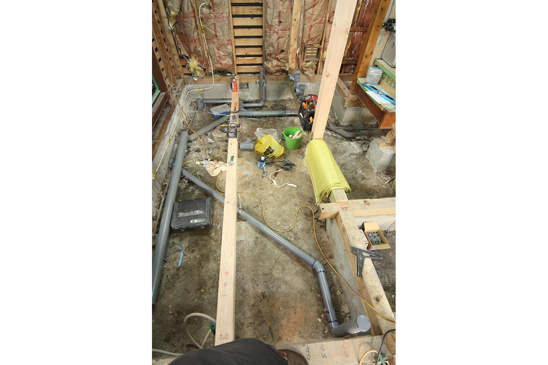 排水管工事写真