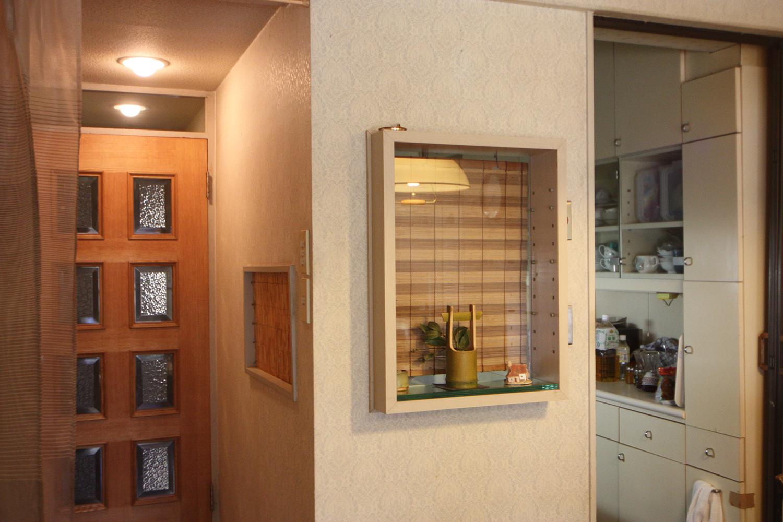 リフォーム前のキッチンとリビングの壁