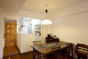 オープンになったキッチン写真